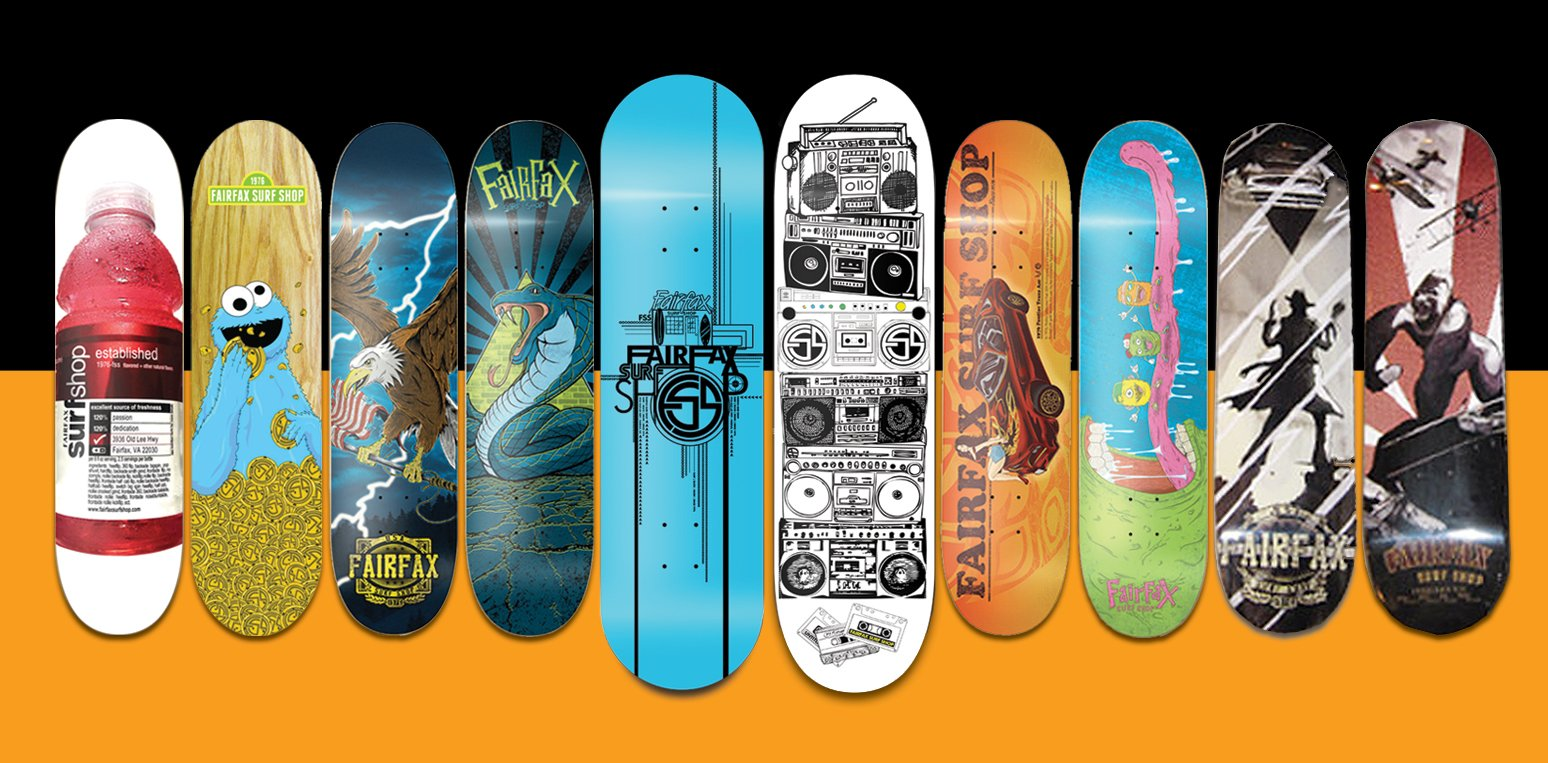 Surf Shop Skate decks