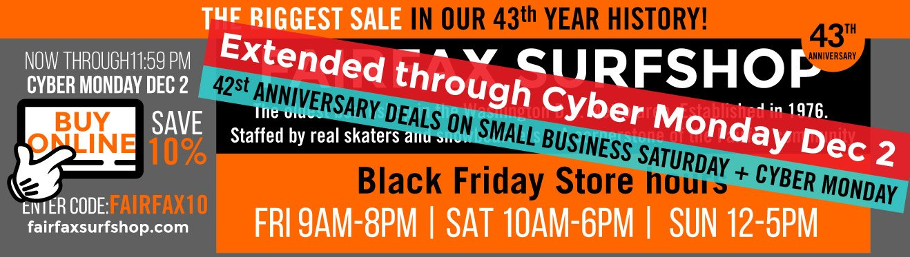 Fairfax Surf Shop Black Friday