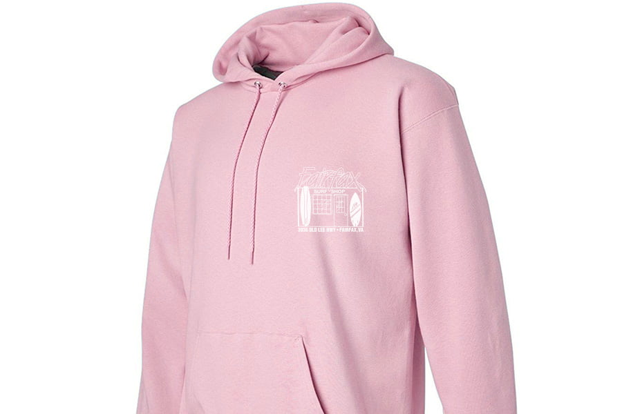 Fairfax Surf Shop Old School Pink-White Hoodie