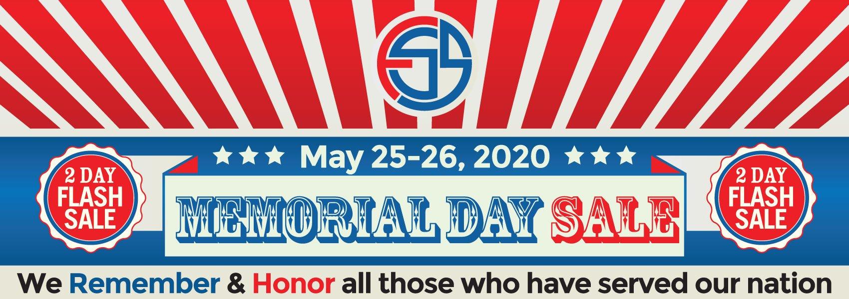 Memorial Day Sale May 25-26, 2020