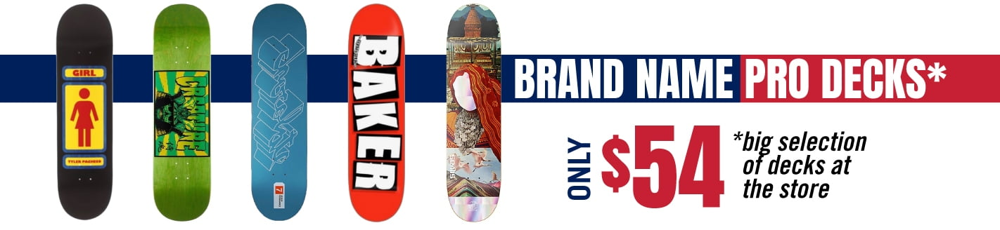 Brand name pro decks only $54