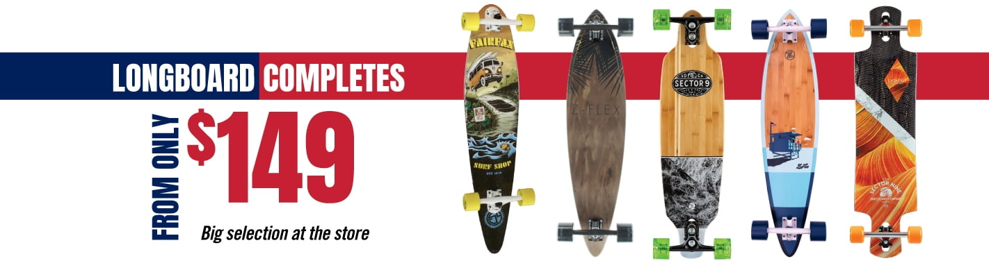 Longboard completes from only $149